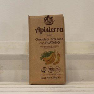 El Granero de la Abuela | Tienda online gourmet en Priego de Córdoba | Chocolate artesano con plátano. 70% pureza