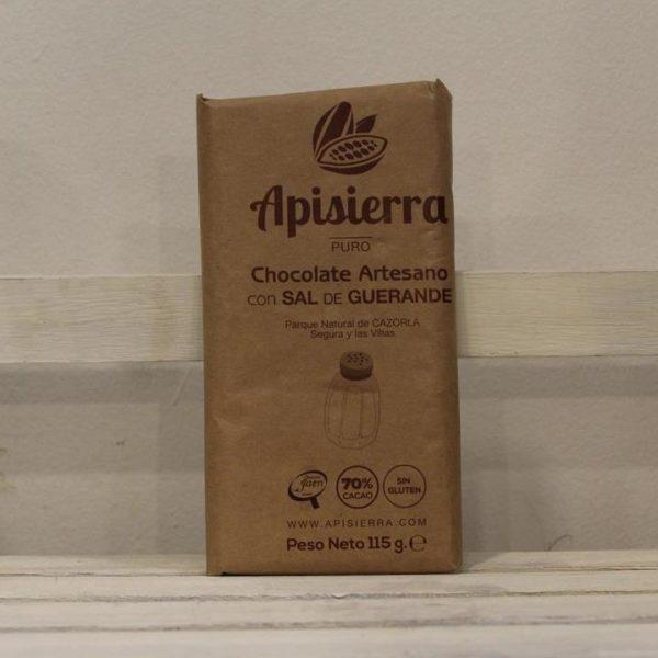 El Granero de la Abuela | Tienda online gourmet en Priego de Córdoba | Chocolate artesano con sal de guerande. 70% pureza