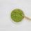 Word matcha made of powdered matcha green tea and bamboo spoon o